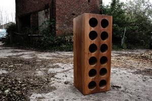 solid wood wine rack