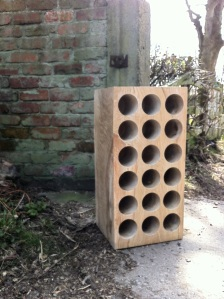 solid wood wine rack